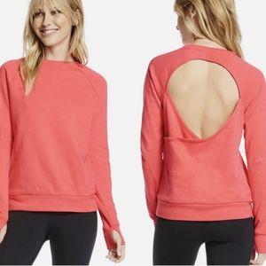Fabletics Ginger Pullover Sweatshirt Open Back L